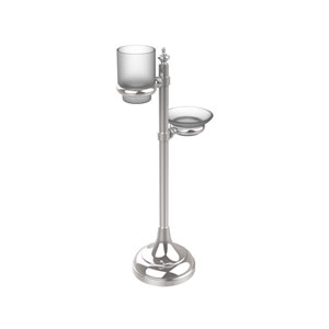 Vanity Top Multi-Accessory Ring Stand, Polished Chrome