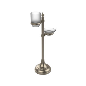 Vanity Top Multi-Accessory Ring Stand, Antique Pewter