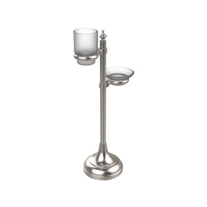 Vanity Top Multi-Accessory Ring Stand, Satin Nickel