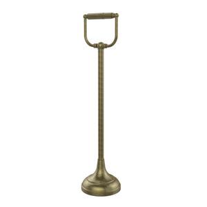 Free Standing Toilet Tissue Holder, Antique Brass
