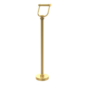 Free Standing Toilet Tissue Holder, Unlacquered Brass
