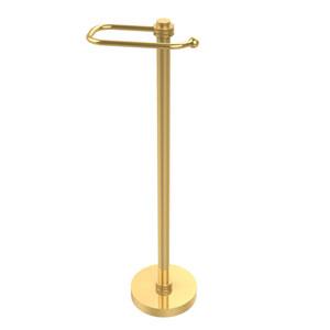 European Style Toilet Tissue Stand, Unlacquered Brass