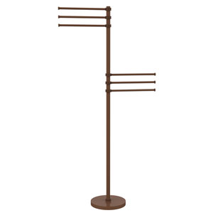 Towel Stand with 6 Pivoting 12 Inch Arms, Antique Bronze