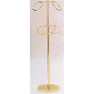 Polished Brass Towel Stand w/ 4-9 Inch Rings