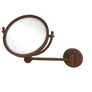 8 Inch Wall Mounted Make-Up Mirror 2X Magnification, Antique Bronze