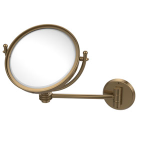 8 Inch Wall Mounted Make-Up Mirror 2X Magnification, Brushed Bronze