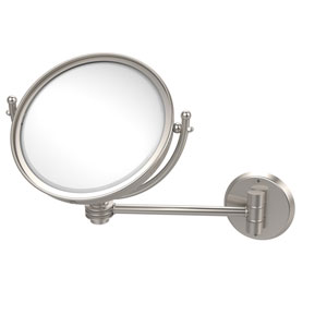8 Inch Wall Mounted Make-Up Mirror 3X Magnification, Satin Nickel