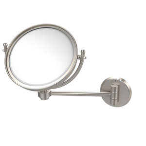 8 Inch Wall Mounted Make-Up Mirror 5X Magnification, Satin Nickel