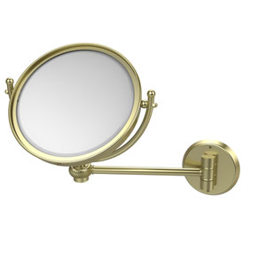8 Inch Wall Mounted Make-Up Mirror 2X Magnification, Satin Brass