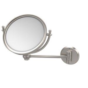 8 Inch Wall Mounted Make-Up Mirror 2X Magnification, Satin Nickel