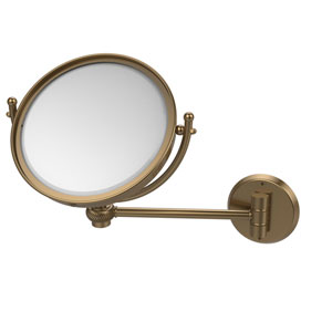 8 Inch Wall Mounted Make-Up Mirror 4X Magnification, Brushed Bronze