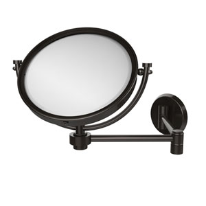 8 Inch Wall Mounted Extending Make-Up Mirror 4X Magnification, Oil Rubbed Bronze