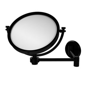 8 Inch Wall Mounted Extending Make-Up Mirror 5X Magnification, Matte Black