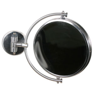 Antique Brass 8 Inch Mirror 2x Magnification Extends 7 Inch