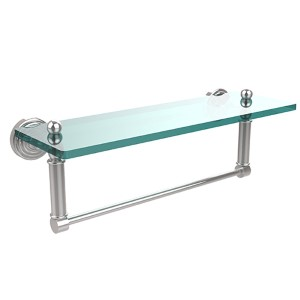 Polished Chrome Waverly Place 16-Inch Shelf with Towel Bar