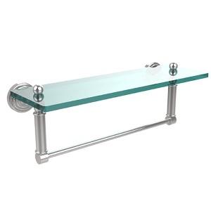Polished Chrome Waverly Place 16-Inch Shelf with Towel Bar