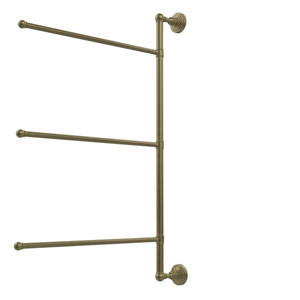 Waverly Place Collection 3 Swing Arm Vertical 28 Inch Towel Bar, Antique Brass