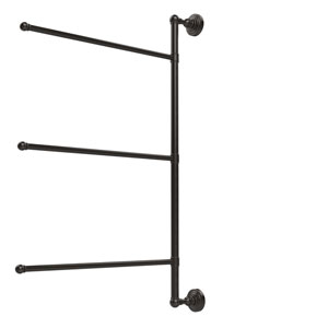 Waverly Place Collection 3 Swing Arm Vertical 28 Inch Towel Bar, Oil Rubbed Bronze