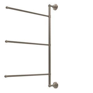 Waverly Place Collection 3 Swing Arm Vertical 28 Inch Towel Bar, Antique Pewter