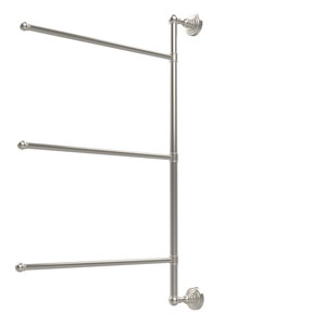 Waverly Place Collection 3 Swing Arm Vertical 28 Inch Towel Bar, Polished Nickel