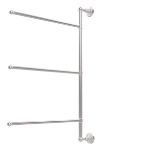 Waverly Place Collection 3 Swing Arm Vertical 28 Inch Towel Bar, Satin Chrome