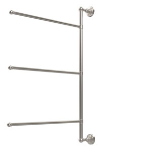 Waverly Place Collection 3 Swing Arm Vertical 28 Inch Towel Bar, Satin Nickel