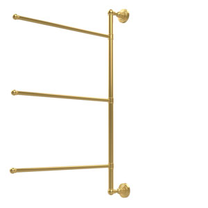 Waverly Place Collection 3 Swing Arm Vertical 28 Inch Towel Bar, Unlacquered Brass