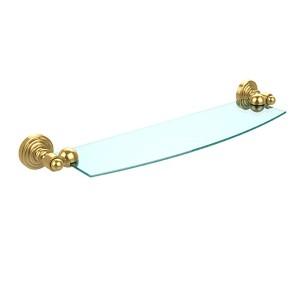 Waverly Place Polished Brass 18-Inch Single Shelf