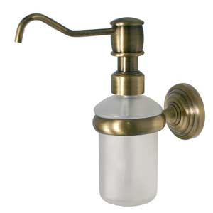 Waverly Place Antique Brass Wall-Mounted Soap Dispenser