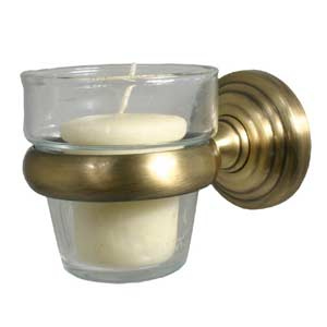 Waverly Place Antique Brass Wall-Mounted Votive Candle Holder