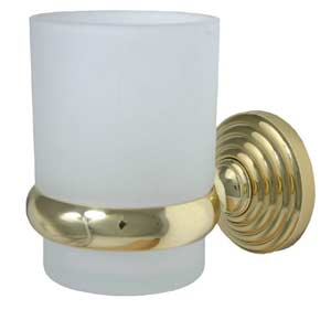 Waverly Place Polished Brass Wall-Mounted Tumbler Holder