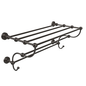 Waverly Place Collection 24 Inch Train Rack Towel Shelf, Oil Rubbed Bronze
