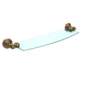 Waverly Place Brushed Bronze 18 Inch x 5 Inch Glass Shelf