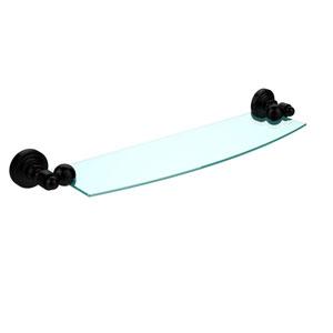 Waverly Place Matte Black 18 Inch x 5 Inch Glass Shelf