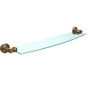 Waverly Place Brushed Bronze 24 Inch x 5 Inch Glass Shelf