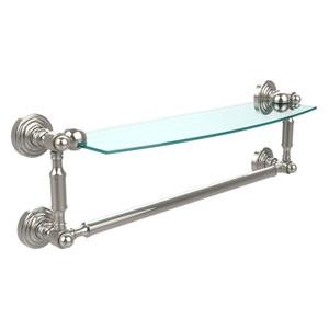 Waverly Place Polished Nickel 18 Inchx5 Inch Glass Shelf w/Towel Bar