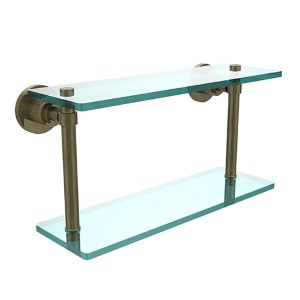 Washington Square Antique Brass 16-Inch Double Shelf