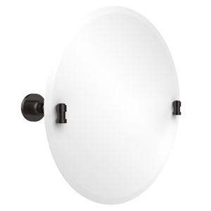 Frameless Round Tilt Mirror with Beveled Edge, Oil Rubbed Bronze