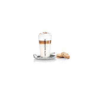 Cono Brushed Stainless Steel Latte Macchiato Set