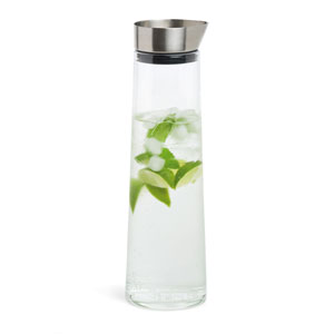 Acqua Glass and Stainless Steel Water Carafe - Large