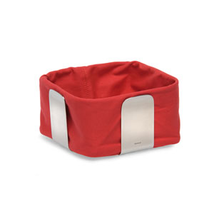 Desa Red and Stainless Steel Bread Basket