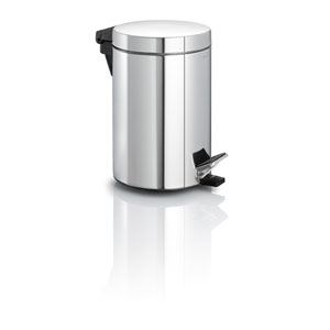 Nexio Polished Stainless Steel Pedal Bin Waste Can