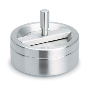 Easy Brushed Stainless Steel Spin Ashtray