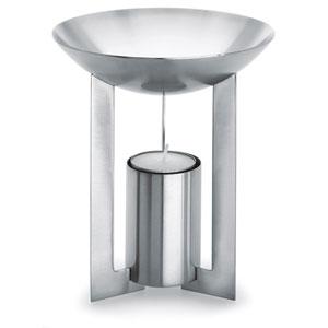 Cino Brushed Stainless Steel Aromatherapy Burner Round