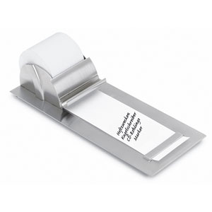 Muro Brushed Stainless Steel Notepaper Roll Holder