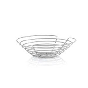 Wires Chrome Plated Steel Basket Round - Large
