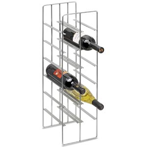 Shop Brushed Nickel Hanging Wine Rack Bellacor
