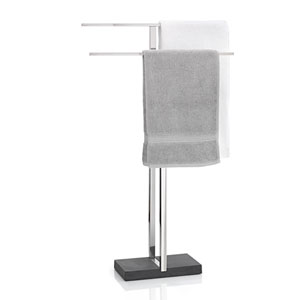 Menoto Polished Stainless Steel Towel Stand