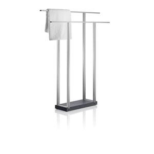 Menoto Matte Stainless Steel Double Towel Stand