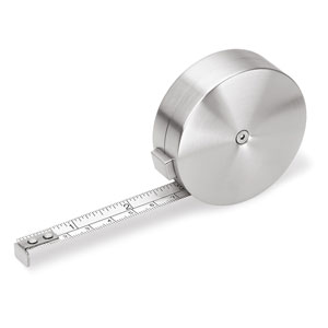 Gents Brushed Stainless Steel Tape Measure